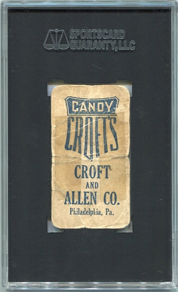 E92 Crofts Candy Blue Back Ty Cobb SGC Authentic